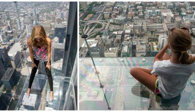 Video. Podeaua de sticlă al unui zgârie-nori din Chicago a crăpat la etajul 103, sub picioarele unor turiști