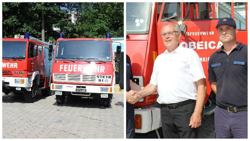 Pompierii austrieci au donat țării noastre mai multe utilaje performante