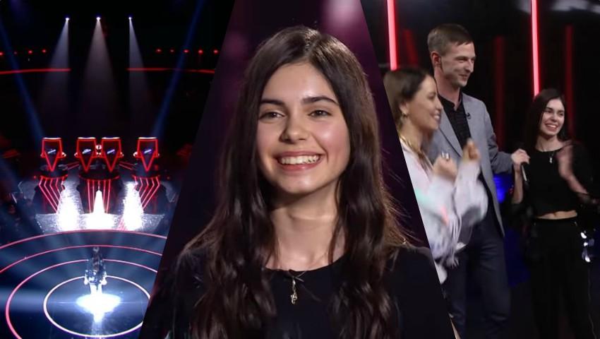 Foto: La doar 13 ani, moldoveanca Adelina Iordachi i-a cucerit pe toți cei 4 jurați de la The Voice Kids Ukraine