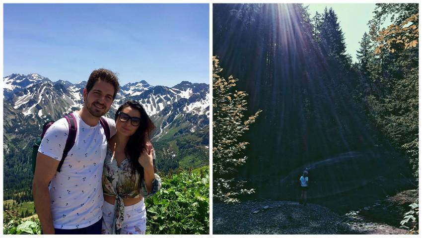 Foto: Soprana Olga Busuioc, fericită alături de iubitul său! Poze superbe din vacanța în munți