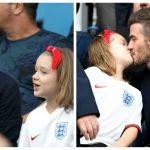 Foto: David Beckham și-a sărutat fetița pe guriță. Tu ce crezi despre asta?