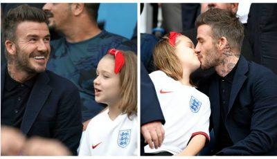 David Beckham și-a sărutat fetița pe guriță. Tu ce crezi despre asta?