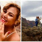 Foto: Emoții de vis, la înălțime! Designerul Irina Calancea a fost cerută în căsătorie pe Marele Canion, în Nevada