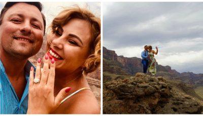 Emoții de vis, la înălțime! Designerul Irina Calancea a fost cerută în căsătorie pe Marele Canion, în Nevada