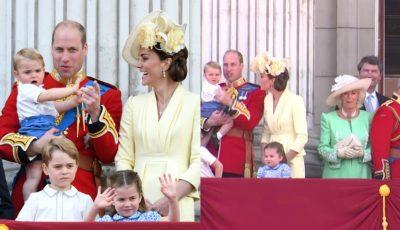 Video. Imagini adorabile cu Prințul Louis, la parada dedicată Reginei Elisabeta a II-a!