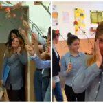 Foto: Video viral. Cum a fost surprinsă o profesoară însărcinată, de către elevii săi, la sfârșit de an