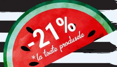 Cea mai lungă zi – Cele mai mari Reduceri. Top Shop vă oferă -21% REDUCERE la absolut toate produsele și Oferte speciale de până la -60%!