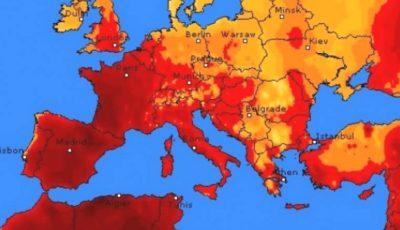 În Europa vine un val de căldură de +40 de grade Celsius. Se scurtează orele de curs în școli