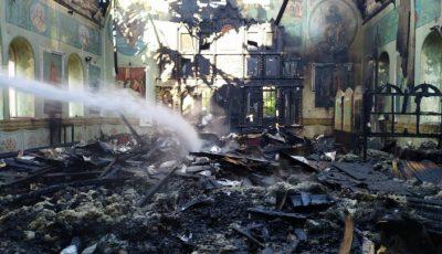 Incendiu la Biserica din localitatea Grinăuți-Moldova, raionul Ocnița