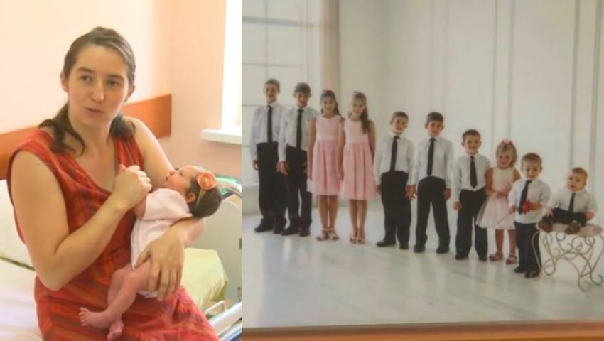Foto: O femeie din capitală a născut cel de-al 11-lea copil, la 40 de ani