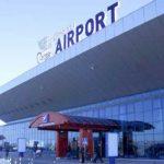 Foto: Un bărbat din Tadjikistan a spart geamul de la Aeroportul Chișinău și a intrat ilegal în Moldova