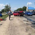 Foto: Accident grav în raionul Râșcani cu implicarea a cinci mașini. Foto