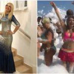 Foto: Ipostaze de invidiat! Ludmila Bălan se distrează ca o adolescentă la spuma party