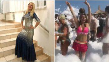 Ipostaze de invidiat! Ludmila Bălan se distrează ca o adolescentă la spuma party