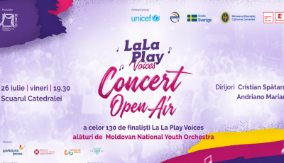 Moldovan National Youth Orchestra și corul La La Play Voices vă invită la un concert open air extraordinar!