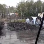 Foto: O tabără pentru copii din Rusia, mistuită de flăcări. Sunt morţi şi răniţi