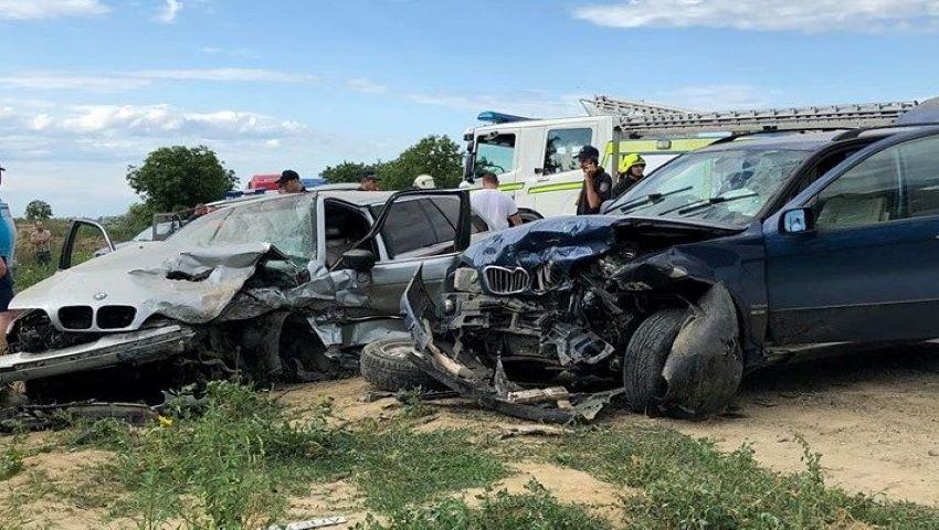 Foto: Grav accident pe traseul Cahul-Giurgiuleşti