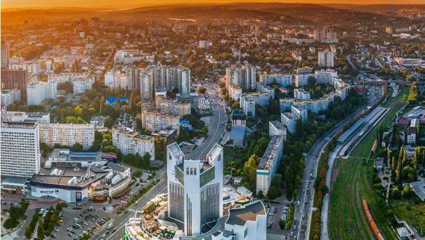 Foto: Un apus de poveste în Chișinău. Foto!