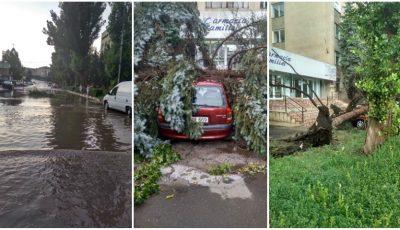 Imagini dramatice în nordul țării, după vijelia de astăzi. Foto!