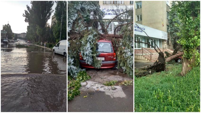 Foto: Imagini dramatice în nordul țării, după vijelia de astăzi. Foto!