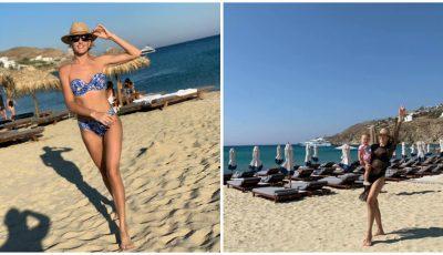 Tatiana Heghea nu renunță la sport nici în vacanță. Vezi cum face mișcare vedeta!