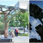 Foto: Doi arbori solari fotovoltaici au fost instalați în Chișinău. Foto!