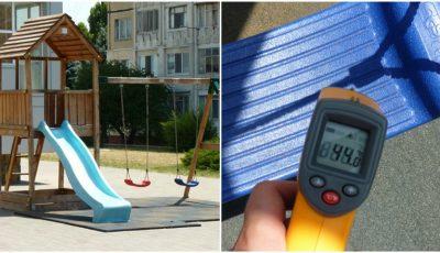 68°C la tobogane! Terenurile de joacă pentru copii, pe timp de vară, sunt nefuncționale. Plantați copaci!