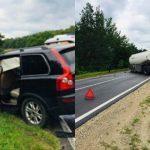 Foto: Accdent violent pe traseul Chișinău-Leușeni. Un șofer a pierdut controlul volanului și s-a izbit într-un tir