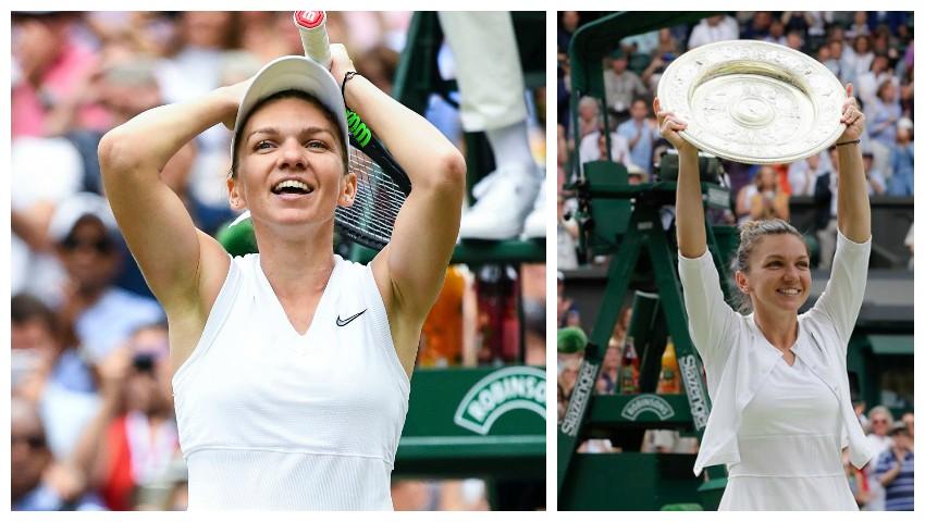 Foto: Simona Halep și-a rotunjit conturile cu 2,6 milioane de euro, după victoria de la Wimbledon