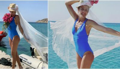 Tatiana Heghea, în voal de mireasă pe plajă! Cum au sărbătorit interpreta și soțul ei cei 4 ani de căsnicie