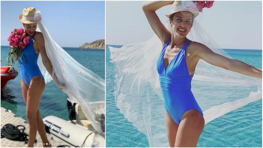 Foto: Tatiana Heghea, în voal de mireasă pe plajă! Cum au sărbătorit interpreta și soțul ei cei 4 ani de căsnicie