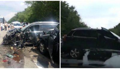 Coloana oficială de mașini a președintelui ucrainean Vladimir Zelenski, implicată în accident. Foto!
