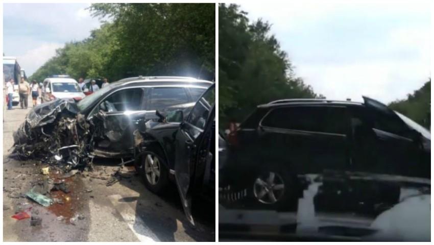 Foto: Coloana oficială de mașini a președintelui ucrainean Vladimir Zelenski, implicată în accident. Foto!