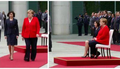 Video! Maia Sandu, întâmpinată cu onoruri militare de către Angela Merkel, la Berlin