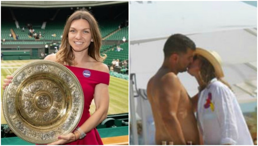 Simona Halep, sărut pasional cu iubitul său pe plajă la Mamaia!