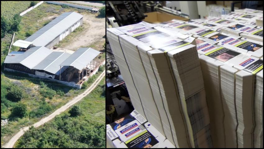 Foto: Un moldovean a fost obligat să lucreze la o fabrică clandestină de țigări din Bulgaria, după care a fost arestat
