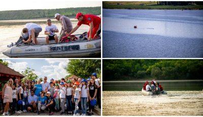 Înotătorul Ion Lazarenco Tiron a parcurs 30 de km pe râul Nistru pentru a promova mesajul păcii și drepturile copilului!
