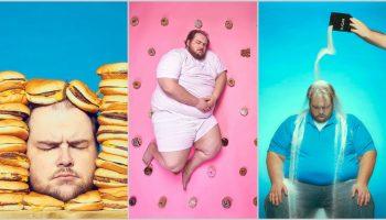 """Fotograful care motivează slăbitul și renunțarea la ,,junk food"""" prin autoportrete"""
