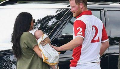 Meghan Markle și-a făcut apariția cu bebelușul în brațe, la un meci de polo. Imagini adorabile!