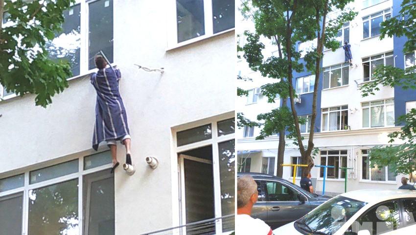 Foto: Incident șocant în capitală! Un tănăr a pătruns într-un apartament pe la balcon. Proprietarii dormeau în casă