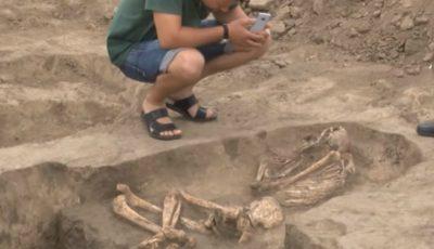 La Cimișlia au fost descoperite două morminte de peste 4.000 de ani. Foto