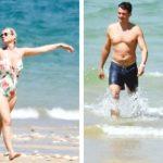 Foto: Katy Perry și Orlando Bloom se relaxează la plajă, în Franța
