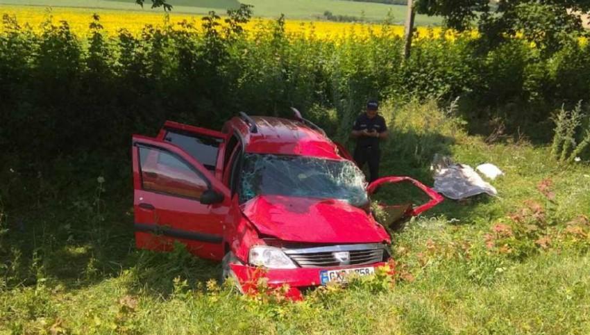 Foto: Accident cumplit la Sângerei: șoferul și o pasageră au murit, iar fiica femeii a ajuns în stare gravă la spital