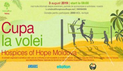 Joacă volei de plajă şi ajută bolnavii incurabili. Alătură-te inițiativei Hospices of Hope Moldova!