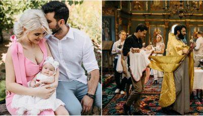 Daniela Ciocanu a publicat imagini noi de la botezul fetiței sale. Câți nani are Miranda?