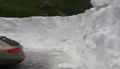 A nins din nou. Zăpadă de trei metri în România, în mijlocul lunii iulie