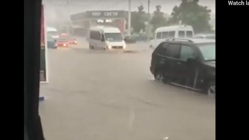 Foto: Inundații puternice în stânga Nistrului