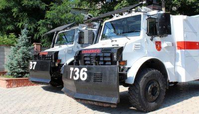 Autospecialele donate de guvernul turc pentru dispersarea protestatarilor, vor fi folosite la deblocarea drumurilor în caz de intemperii și stingerea incendiilor