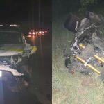 Foto: Accident îngrozitor, azi-noapte, la Comrat. Cinci tineri pe motociclete s-au luat la întrecere cu viteze excesive
