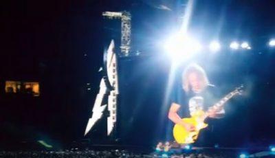 Metallica a interpretat o piesă în limba română la concertul susținut în București